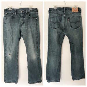 Levi's 527 Distressed Denim Jeans Size 34x32